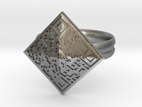 The BTC Ring in Natural Silver