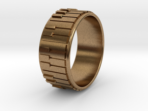 Piano Ring - US Size 08 in Natural Brass