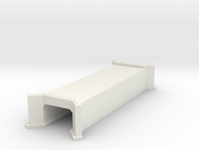N-Scale Concrete Highway Culvert in White Natural Versatile Plastic