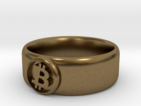 Bitcoin Ring (BTC) - Size 11.0 (U.S. 20.57mm dia) in Natural Bronze