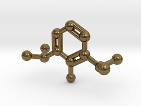 Propofol Molecule Keychain Necklace in Natural Bronze