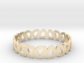 Pebble Bangle Bracelet in 14k Gold Plated Brass: Small