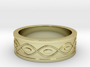 Ring with Eyes - Size 5 in 18k Gold Plated Brass