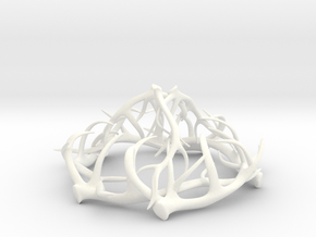 1:12 Antler Chandelier 2 in White Processed Versatile Plastic