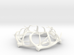 1:12 Antler Decoration in White Strong & Flexible Polished