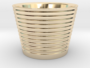 Japanese Sake cup in 14k Gold Plated Brass