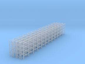 Pallet Racks 4 Rows in Smooth Fine Detail Plastic