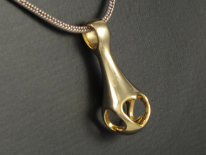 Hearts Droplet - Surrounded in 14k Gold Plated Brass