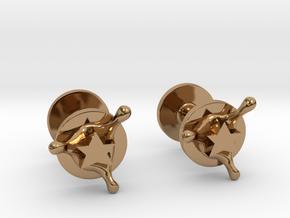 StarSplash cufflinks in Polished Brass