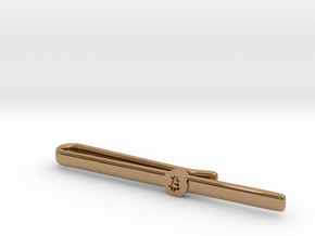 Bitcoin Tie Clip Simple in Polished Brass
