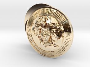 Beer Goddess Cufflinks  in 14k Gold Plated Brass