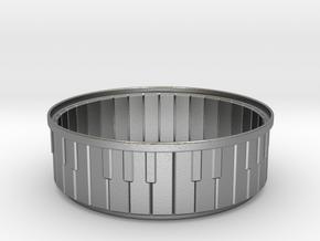 Piano Bracelet in Natural Silver