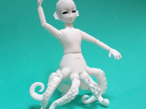 Octoling BJD: Octopus merboy doll  in White Strong & Flexible