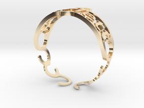 """Your Name Custom Bracelet - """"Scarlett""""  in 14k Gold Plated Brass"""