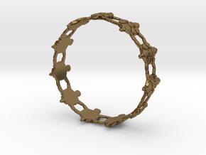 Turtles Bracelet in Natural Bronze