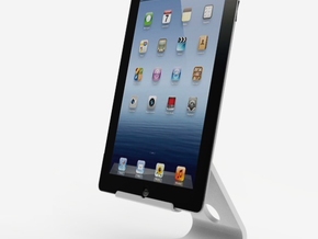 The Ipad stand (shelled) in White Strong & Flexible