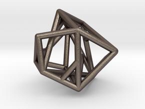 Lien pendant in Polished Bronzed Silver Steel