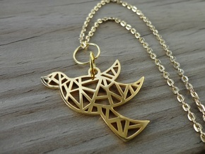 Dove's Nest in 18k Gold Plated Brass