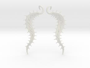 SeaBean Earrings in White Natural Versatile Plastic