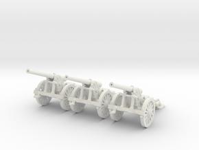 1/144 WW1 De Bange 155mm cannon in White Strong & Flexible