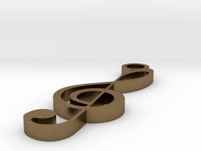 Treble Clef Pendant in Natural Bronze