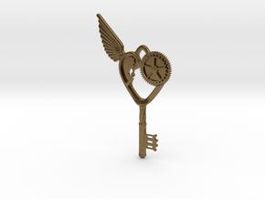 Key Pendant in Natural Bronze