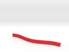 Big Curved ZMR250 bumper in Red Processed Versatile Plastic