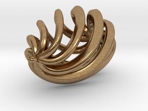Drop Pendant in Natural Brass
