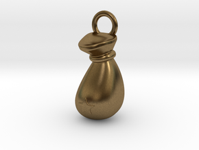 Sack Pendant in Natural Bronze