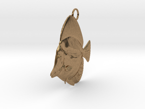 Fish Pendant in Natural Brass
