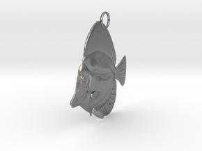 Fish Pendant in Natural Silver