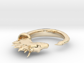Horse Ring in 14k Gold Plated Brass