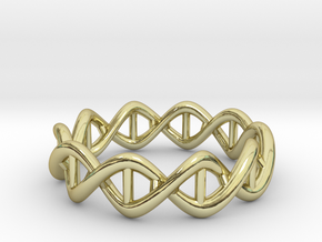 Ring DNA in 18k Gold Plated Brass