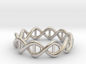 Ring DNA in Rhodium Plated Brass