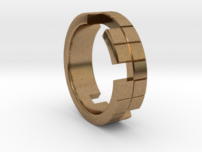 Tetris Ring Size 10 in Natural Brass