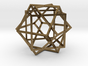 3 Cube Compound in Natural Bronze