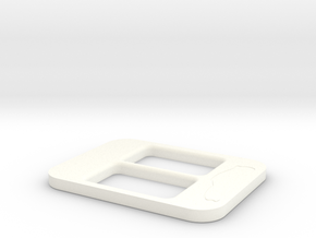 BRZ Limited Console Plate Style 001 in White Strong & Flexible Polished