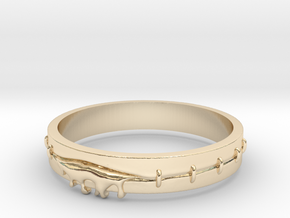 Bleeding Ring in 14k Gold Plated Brass