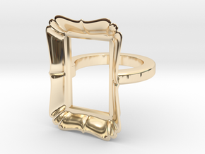 Frame Ring in 14k Gold Plated Brass: 4 / 46.5