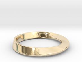 Möbius Ring in 14k Gold Plated Brass