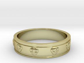 Ring with Skulls - Size 9 in 18k Gold Plated