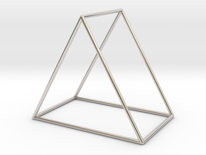 Triangle Bracelet - Large in Rhodium Plated Brass
