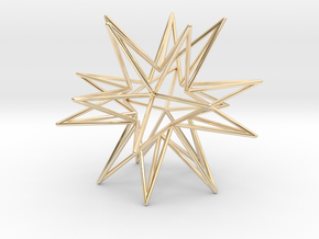 Icosahedron Star in 14k Gold Plated Brass