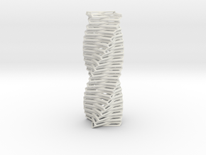Twisted Column Four-pointed Star Base in White Natural Versatile Plastic
