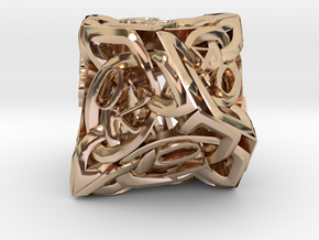 Celtic Percentile D10 in 14k Rose Gold Plated Brass