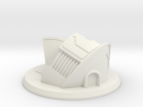 Sci-Fi Dwelling / Municipal Building Gaming Piece in White Natural Versatile Plastic