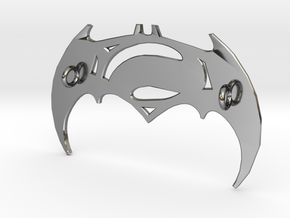 Batman V Superman Pendant in Fine Detail Polished Silver