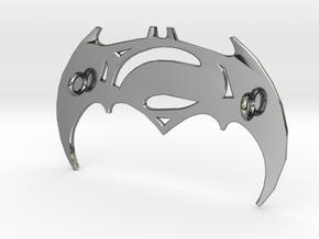 Batman V Superman Pendant in Premium Silver