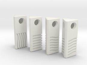 Fifth Element Stones - Pendant / necklace 2.5cm in White Natural Versatile Plastic