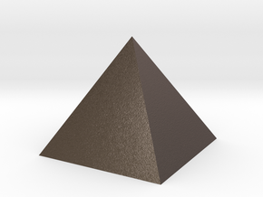 Pyramid Small in Polished Bronzed Silver Steel